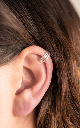 Sterling Silver Three Bar Ear Cuff by Collections by Hayley