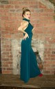High Neck Wide Leg Jumpsuit in Teal by House Of Lily