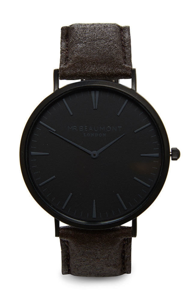 Mr. Beaumont Vegan Black Dial/Brown Watch by Elie Beaumont