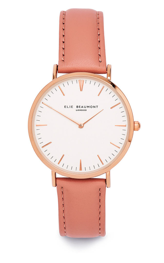 Oxford Large Pink Watch by Elie Beaumont
