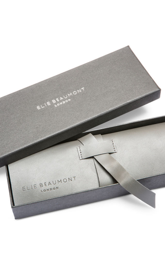 Oxford Small Silver Case/Blue Watch by Elie Beaumont