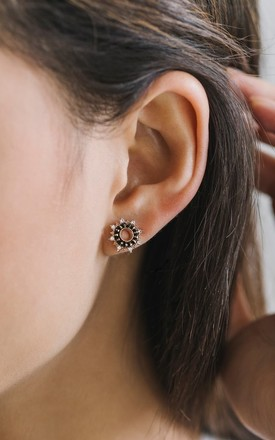 Starboard Earrings In Black by Apache Rose London Product photo