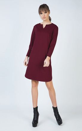 Long Sleeve Sack Dress in Punto di Roma Fabric by Conquista Fashion
