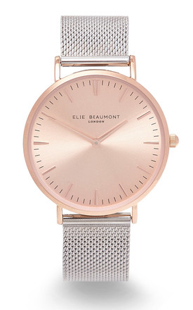 Oxford Large Mesh Two Tone Watch by Elie Beaumont
