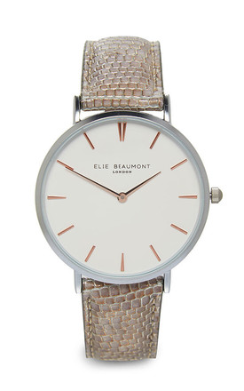 Sloane Silver Watch by Elie Beaumont