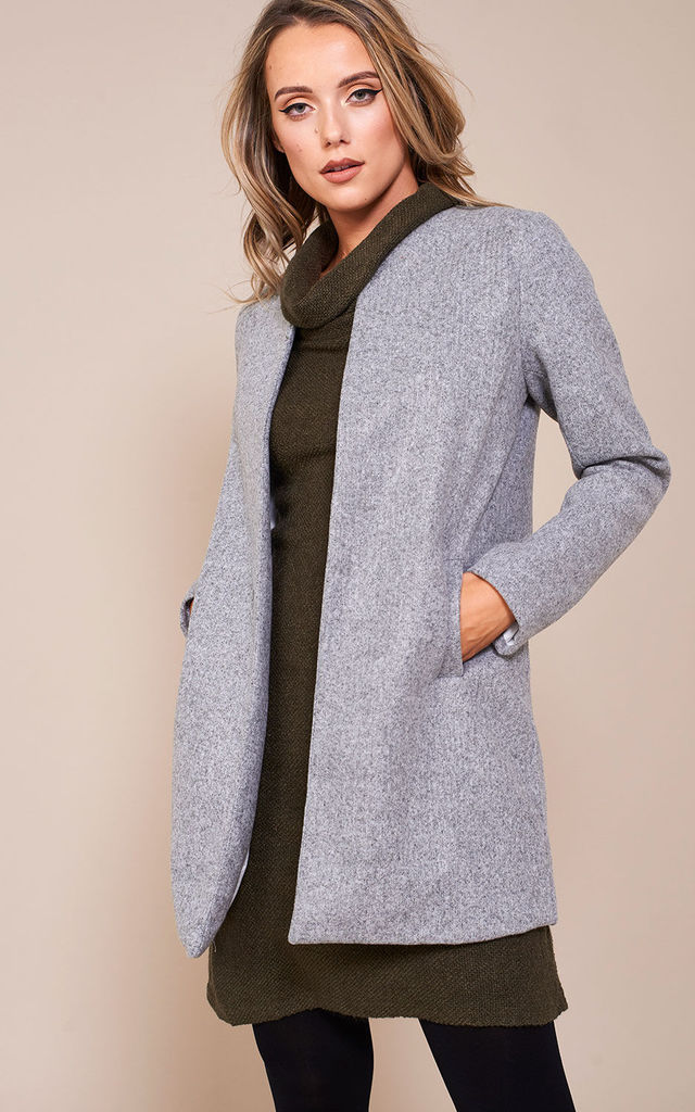 Seth Classic Slim Coat in Grey by Marc Angelo