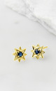 Guiding North Star Studs - Gold Sapphire by Charlotte's Web