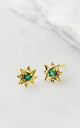 Guiding North Star Studs - Gold Emerald by Charlotte's Web