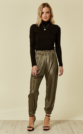 Gold Cuffed Trousers by Prodigal Fox