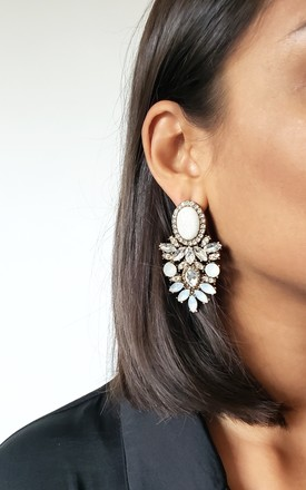 Amelle Clear Earrings by AVAAYA Product photo