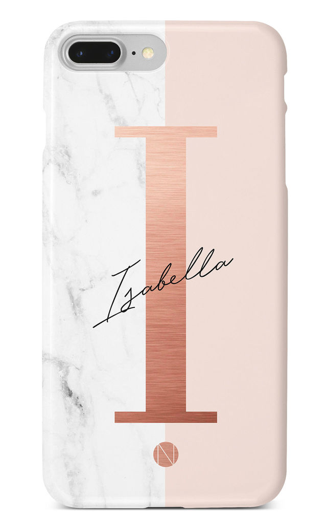 quality design 1d571 3fc3d The Personalised Rose Gold Marble Phone Case By NIEVUS