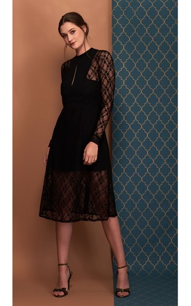 Amelie Lace Dress In Black by COCOOVE Product photo