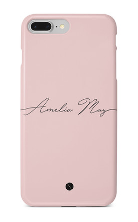 The Personalised Handwritten Phone Case - Dusky Pink Edition by NIEVUS