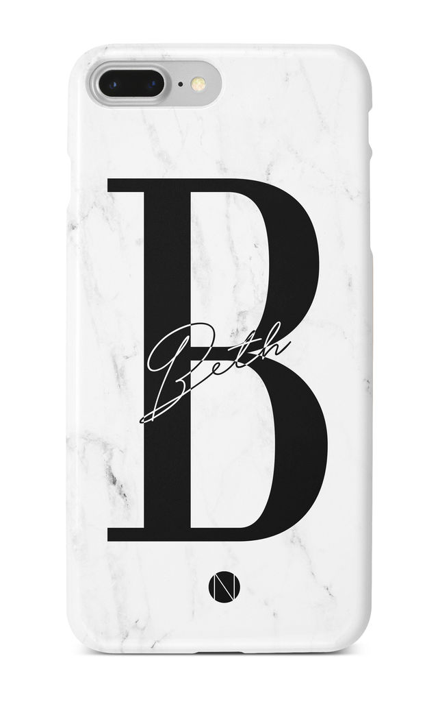 The Personalised Platinum Marble Case by NIEVUS