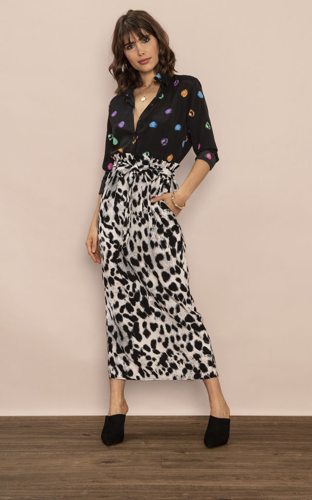 WILLOW SKIRT IN snow LEOPARD image