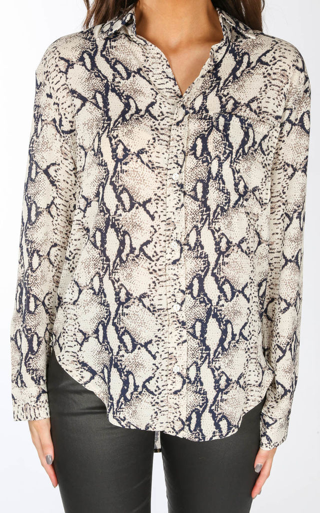 Snake Print Shirt by Dressed In Lucy