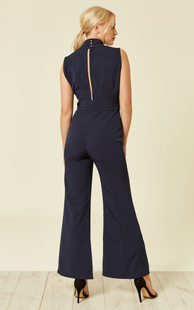 Navy Flared Jumpsuit by UNIQUE21