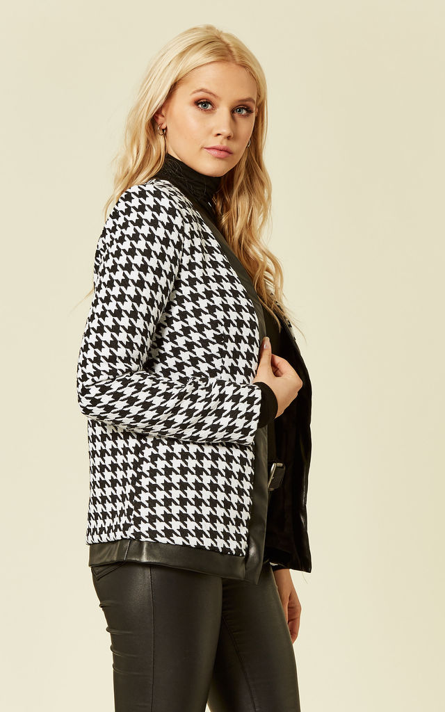 Houndstooth Jacket in Black And White by UNIQUE21