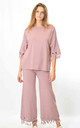 Top and Trousers Co-ord with Tassels in Pink by Lucy Sparks