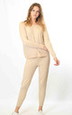Long Sleeve Top and Leggings Co-ord with Crystals in Beige by Lucy Sparks