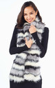 DANELLE – Faux Fur Grey Neck Warmer by Blue Vanilla
