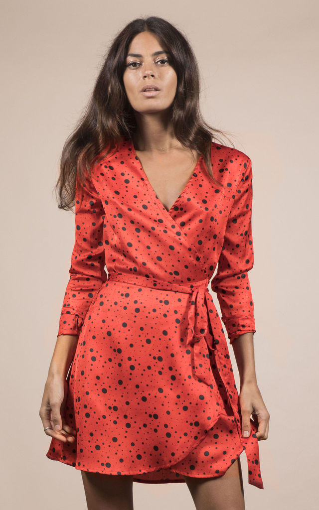 MARLEY DRESS IN RED SPECKLE image
