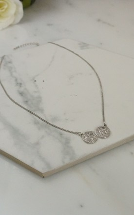 Coin charm silver pendant by EPITOME JEWELLERY