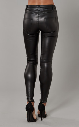 Black Faux Leather Pants by ONLY