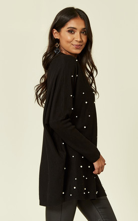 TERRA – Choker Pearl Embellished Black Jumper by Blue Vanilla
