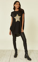 Lynda Star Mix Sequin Black Top by Blue Vanilla
