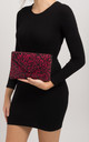 Dee Red Diamante Envelope Clutch by KoKo Couture