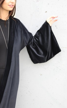 Luxe Midnight Velvet Kimono by House of Zana
