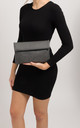 Martina Grey Folded Laser Cut Clutch Bag by KoKo Couture