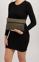 Martina Green Folded Laser Cut Clutch Bag by KoKo Couture