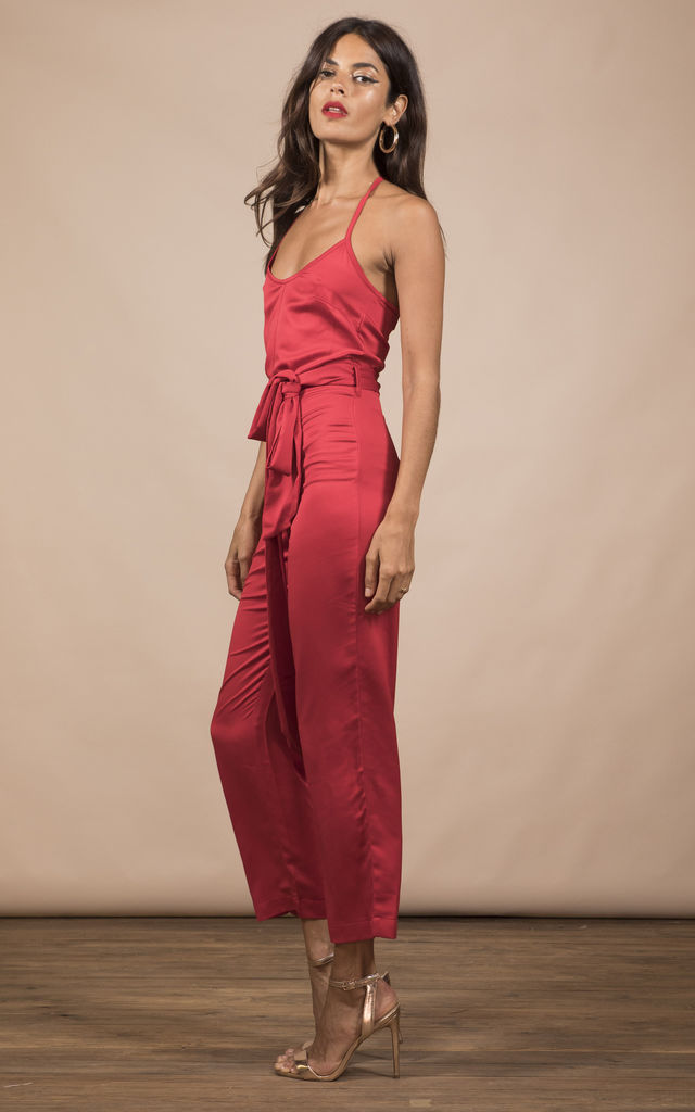 LEXI JUMPSUIT IN RED image