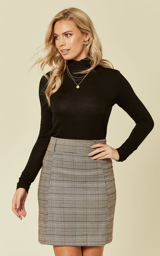 High Waist Check Skirt by UNIQUE21