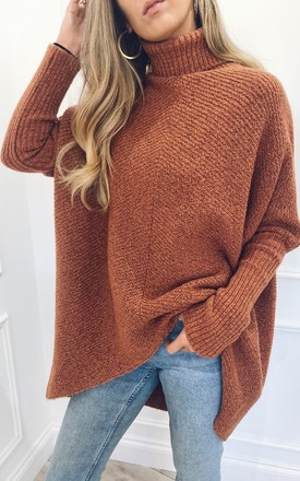 Callie Knit Jumper   Brown by Pretty Lavish Product photo
