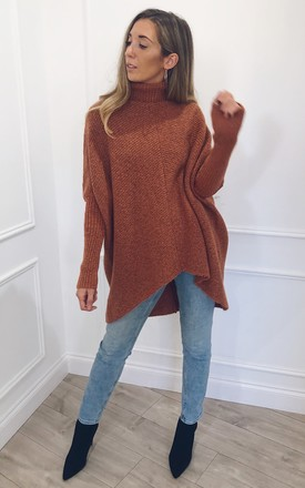 Callie Knit Jumper - Brown by Pretty Lavish
