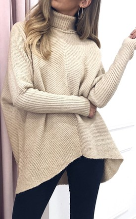 Callie Knit Jumper   Beige by Pretty Lavish Product photo