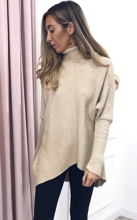 Callie Knit Jumper - Beige by Pretty Lavish