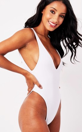 COPACABANA. High Leg. Eco friendly reversible swimsuit - White Leopard & white by Terra Dea