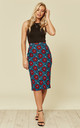 Pencil skirt - flowers by so.Nife