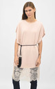Oversized top with lace trim in pink by Lucy Sparks