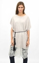 Oversized top with lace trim in grey by Lucy Sparks