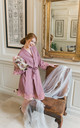 Maueve Purple  Robe / Dressing Gown by The Lovely Little Label