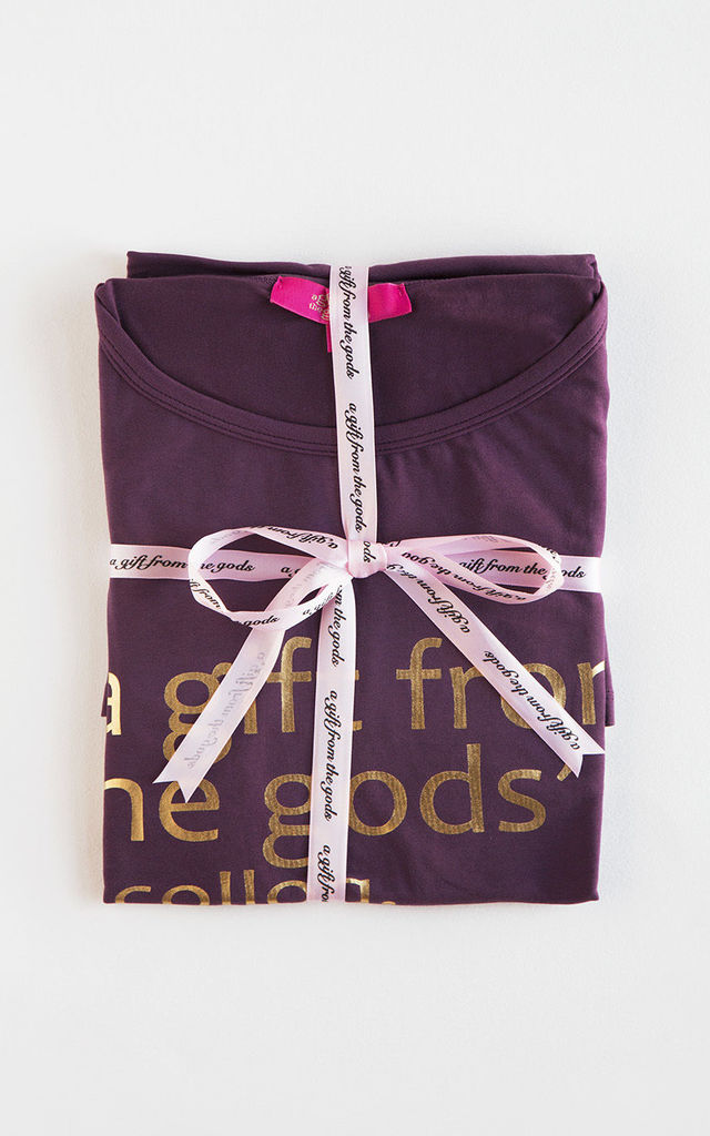 Purple Nightshirt Oversized Slogan Design by A Gift From The Gods