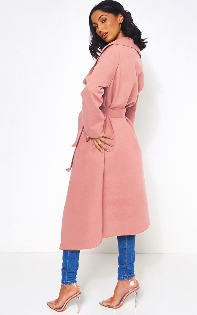 Khloe Pink Waterfall Coat by The Fashion Bible