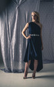 Navy Jessie Dress with Appliqué Belt by Blonde And Wise