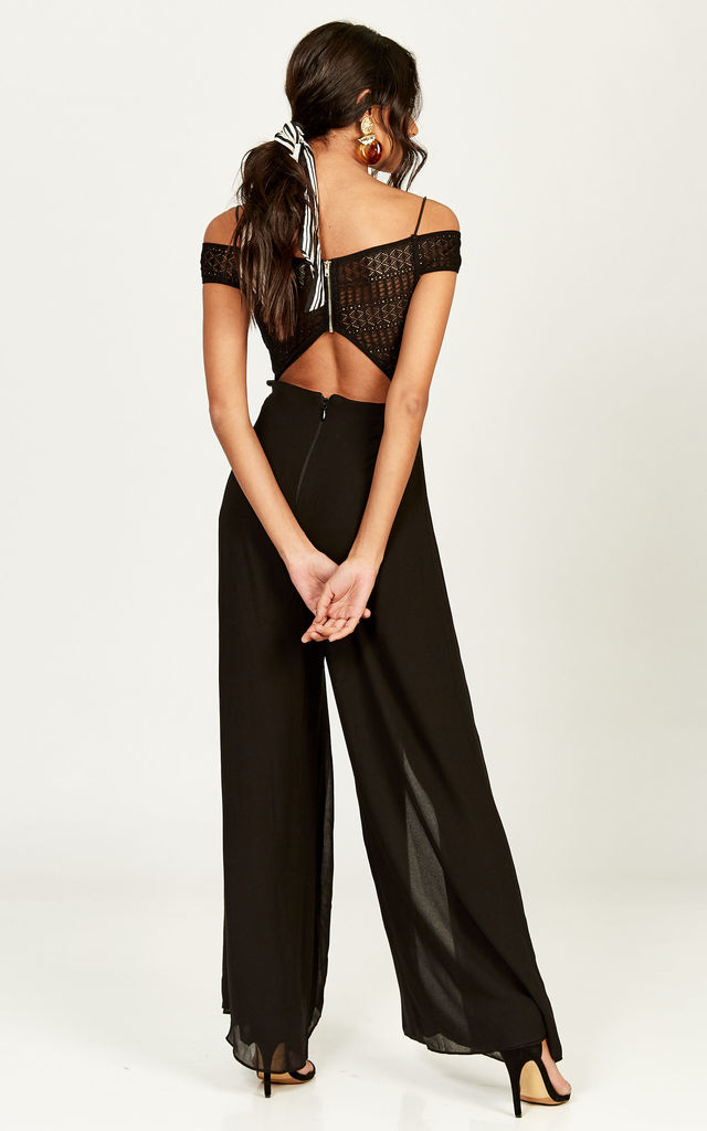 Black Gwen Jumpsuit by The Jetset Diaries