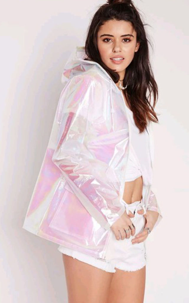 Rain Coat in Iridescent Pink by Save The People